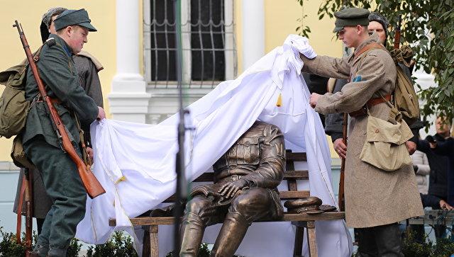 Открытие памятника Петлюре в Виннице