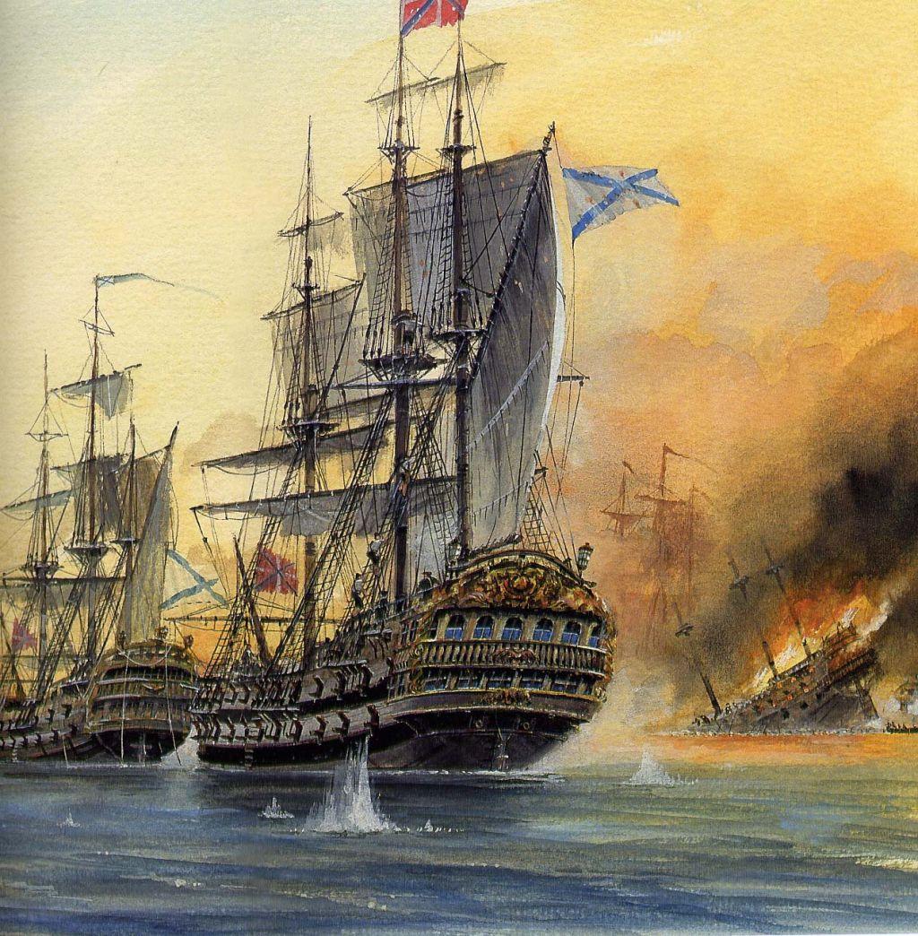 Чесменский бой 1770 года